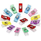 Anpro 60 Stück Klammer 27 x 10 mm Nähen Zubehöre Nähzubehör Stoffklammern 6 Farben für Nähen, Quilting Clips, Häkeln, EINWEG
