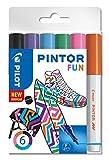 PILOT 4160S6F Pigmentmarker - Kreativmarker Pintor 6 Stück, F 'Fun'