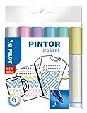 PILOT PINTOR, Kreativmarker, 6er Set 'Pastell', M