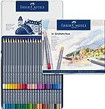 Faber-Castell 114648 Aquarellfarbstift, Goldfaber, 48er Metalletui