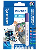 PILOT PINTOR, Kreativmarker, 6er Set 'Fun' F
