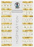Ursus 76624602 Transparentpapier, Bordüren, Kommunion, DIN A4, 115 g/qm, 5 Blatt, Vorderseite mit Heißfolie in gold veredelt, mit Banderole