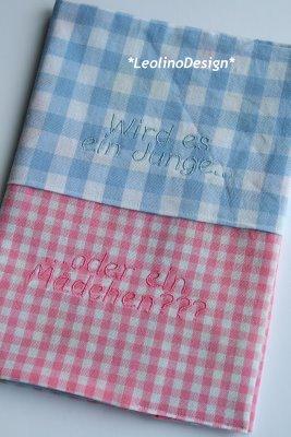 Mutterpasshülle: rosa & blau - Wird es ein Jung oder ein Mädchen? waseigenes.com