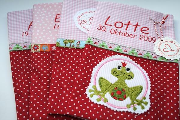 Mädels U-Heft-Hüllen, U Heft Stoffhüllen für Mädchen |  09/2011 waseigenes.com 1