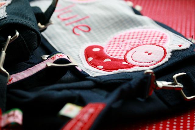DIY Kindergartentaschen mit Namen - Canvas Taschen, Schnecke, waseigenes.com