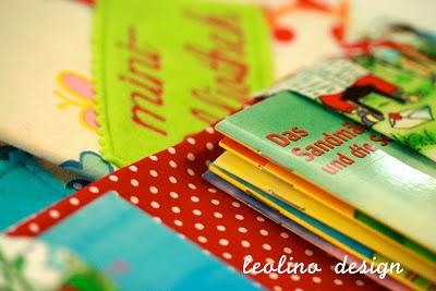 Minibibliothek | Stoffhülle für Pixi Bücher | Stoffumschlag Zwergenstoff | DIY | waseigenes.com