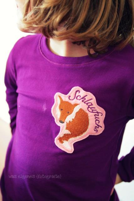 Kindergarten Kind: Schlauer Fuchs | besticktes Shirt mit Schlaufuchs | waseigenes.com