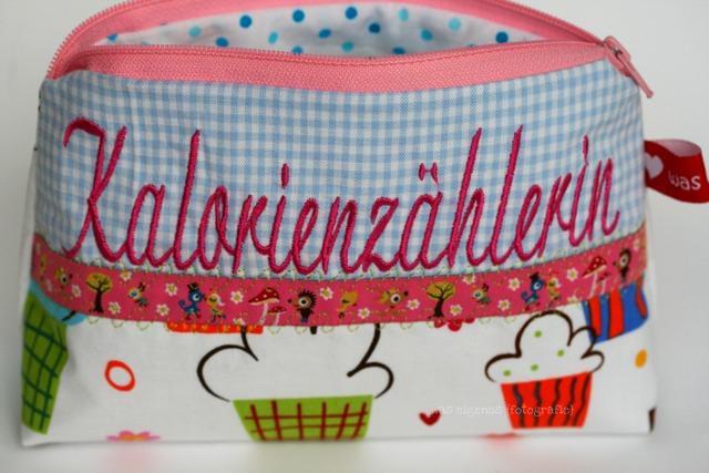 Schminktäschchen waseigenes.com Kalorienzählerin | Geschenkidee | waseigenes.com DIY Blog