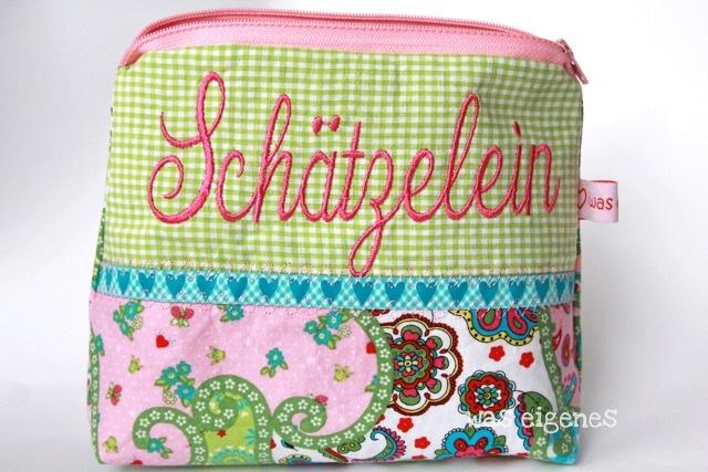 Schminktäschchen was eigenes | Worttäschchen | Schätzlein | schliebdisch | ich liebe dich | Shop & Blog