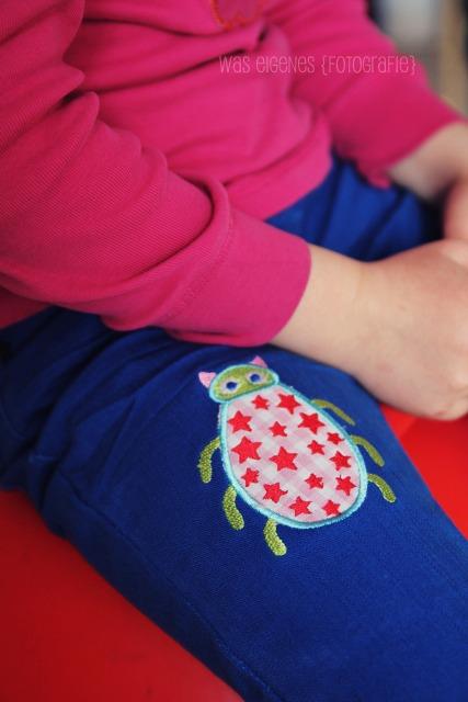 Cheeky bugs auf Jeans | Löcher in Hose flicken | Jolijou | was eigenes Blog
