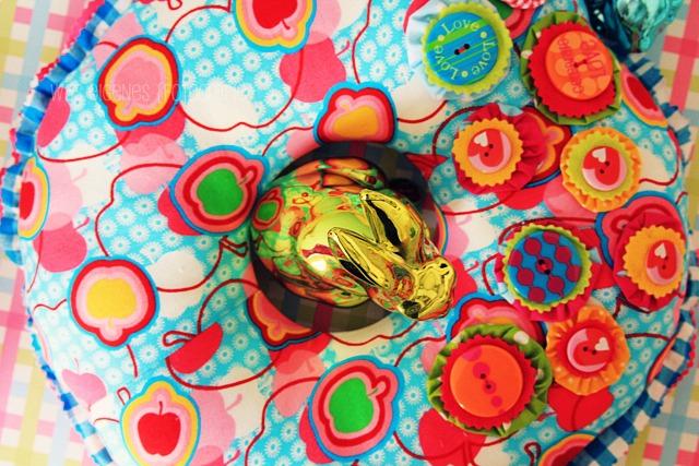 Wreath of Joy | Stoffkranz selbernähen | Jolijou Schnittmuster | was eigenes Blog