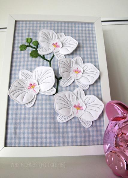 Gestickte Orchidee | myMaki | was eigenes Blog