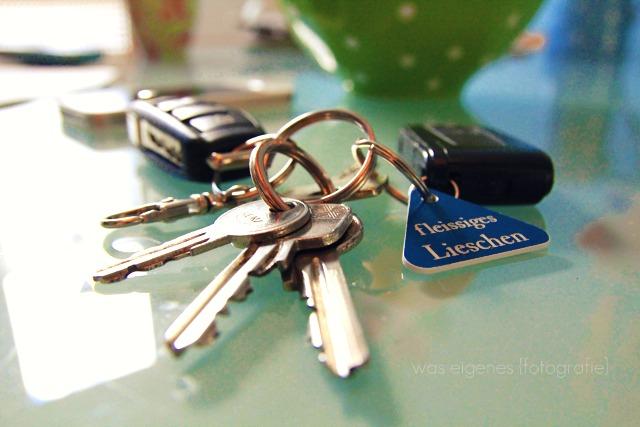 Schlüsselanhänger: fleissiges Lieschen
