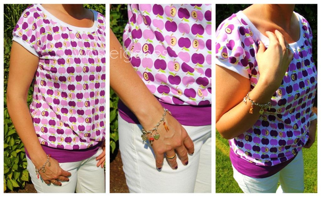 Joana Schnittmuster | Apfel Shirt | Shirt selbernähen |  Jolijou | was eigenes Blog