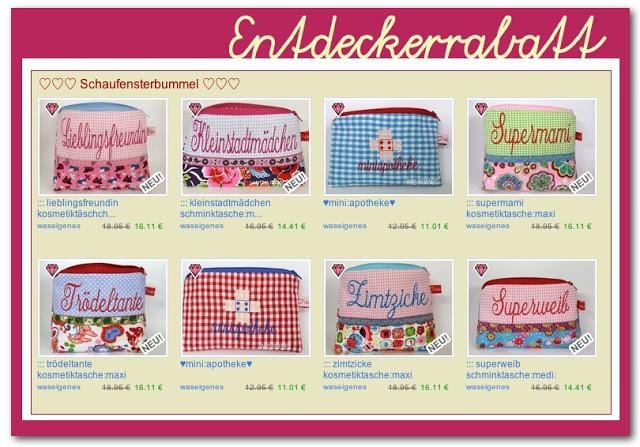Entdeckerrabatt | Schminktäschchen | was eigenes Shop & Blog