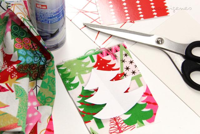 DIY Weihnachtskärtchen aus Klappkarten und Stoff basteln | Weihnachtskarten | Basteln zu Weihnachten | Material | waseigenes.com DIY Blog