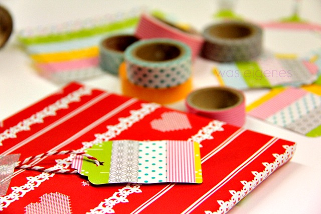DIY Geschenkanhänger aus Papier & Washi Tape, waseigenes.com