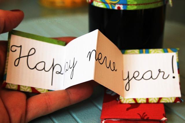 Happy new year! | bottle cozy | selbermachen | selbernähen | Flaschenwärmer | was eigenes Blog