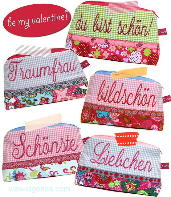 Schminktäschchen | Worttäschchen | Valentinstag | Geschenke für Frauen | Traumfrau | Schönste | was eigenes Shop & Blog