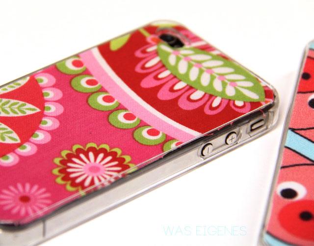 DIY Iphone Huelle selber mit Stoffe gestalten | waseigenes.com