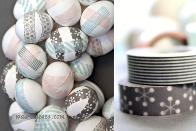 DIY Ostereier Kranz | easter egg wreath | Washi Tape | Anleitung | tutorial | waseigenes.com