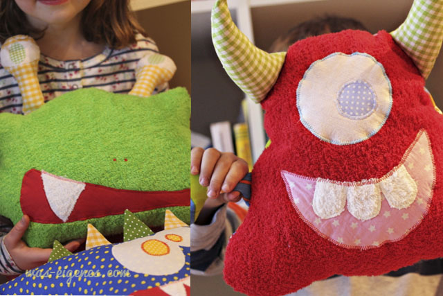 Stofftiere selbernähen | Monster | Frottee & Stoff | was eigenes Blog