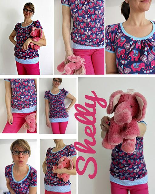 Shelly Shirt | pinke Elefanten | Jolijou | Hamburger Liebe | selbernähen | was eigenes Blog