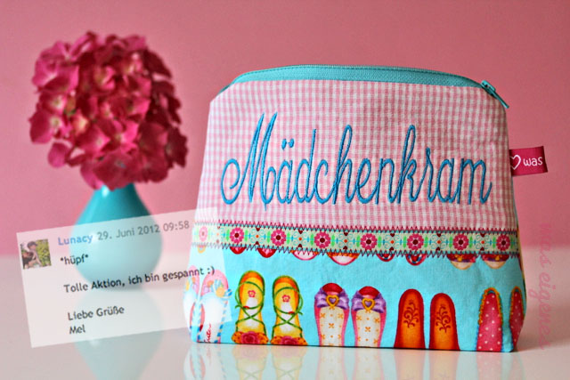 Giveaway Gewinnerin Schminktäschchen Mädchenkram | waseigenes.com