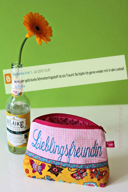 Giveaway Gewinnerin Schminktäschchen Lieblingsfreundin waseigenes.com