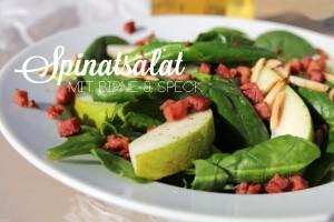 Spinatsalat mit Birne & Speck / was eigenes Blog