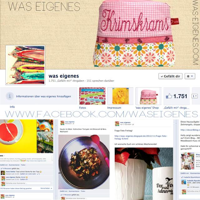 Social media Kanäle | Facebook | was eigenes bei Facebook | waseigenes.com DIY Blog