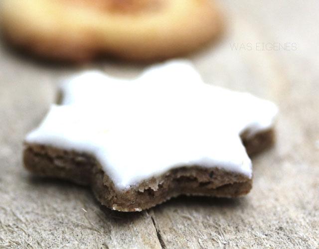 Zimtsterne | Weihnachtsbäckerei | Plätzchen | was eigenes Blog