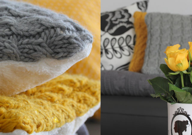DIY Knitting | Sofakissen stricken | waseigenes.com