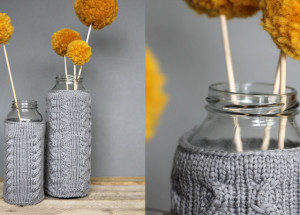 Gestrickte Vasenüberzieher/ was eigenes / DIY Blog