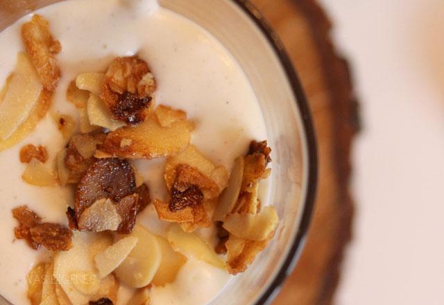 Rezept: Kirsch Mandel Dessert mit gebrannten Mandeln -  waseigenes.com