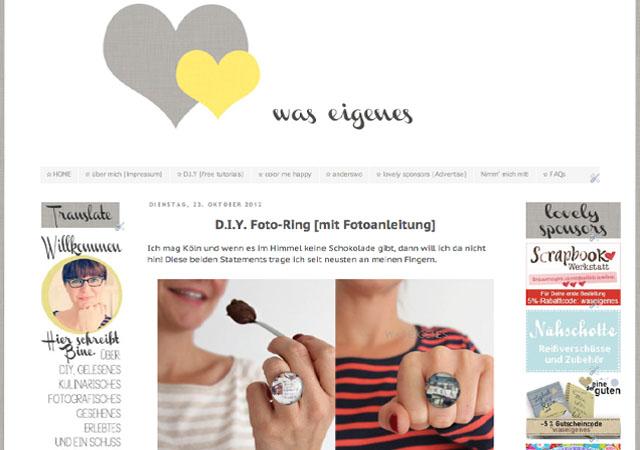 blog was eigenes