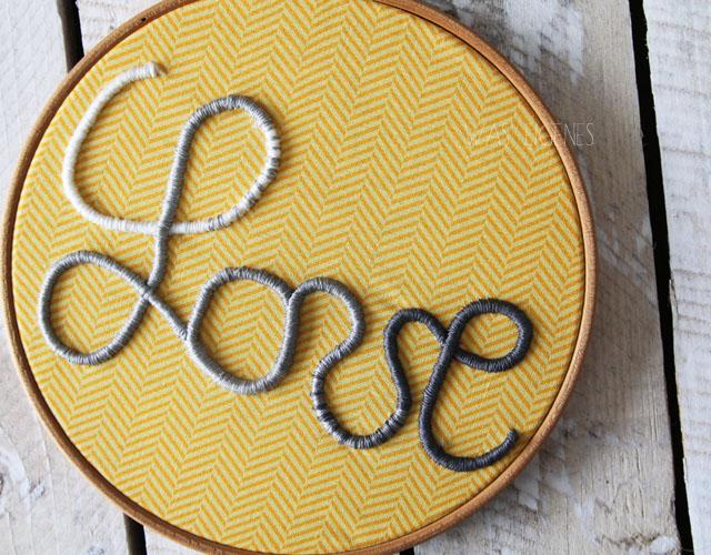 DIY: 3D sticken | Stickrahmen | LOVE Schriftzug | waseigenes.com
