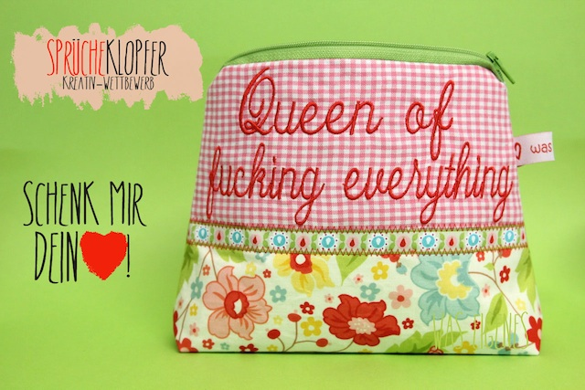 Schminktäschchen: Queen of fucking everything | was eigenes Blog & Shop