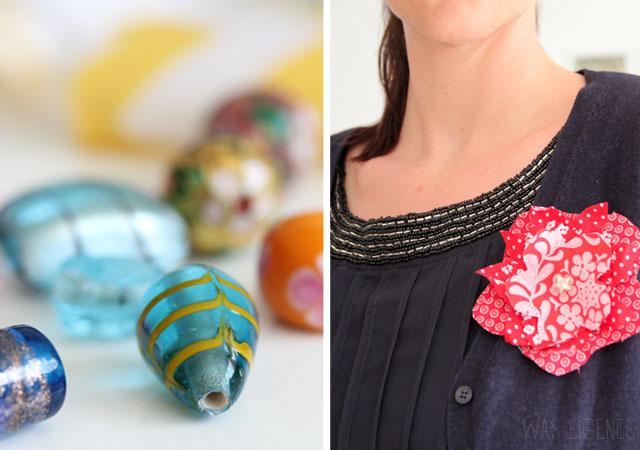 DIY fabric flower | Stoffblumen selber basteln & nähen | was eigenes Blog