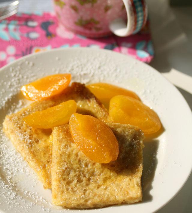 French Toast mit karamellisierten Aprikosen | was eigenes Blog