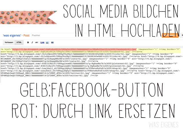 Wie man social media Buttons in einen Blogspot Blog einbaut | Anleitung | was eigenes Blog