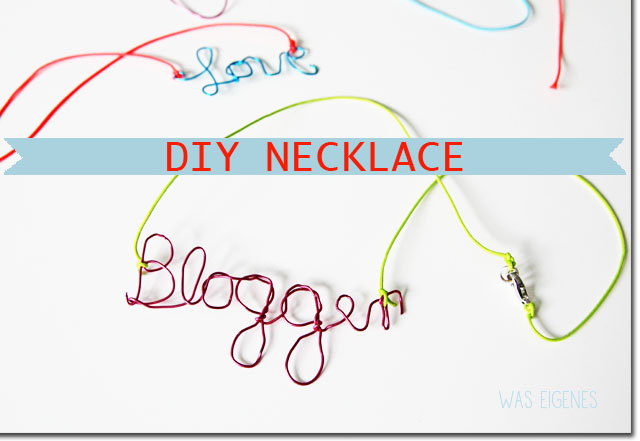 DIY blogger necklace kette