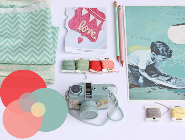 coral mint mood board waseigenes