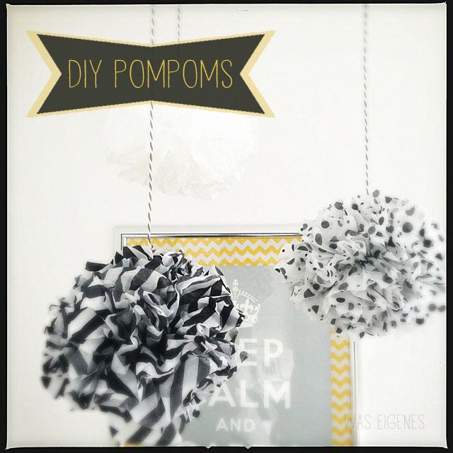 DIY Pompoms selber machen, Pompom Anleitung, Seidenpapier Pompoms basteln, waseigenes.com | #pompom #anleitung #basteln