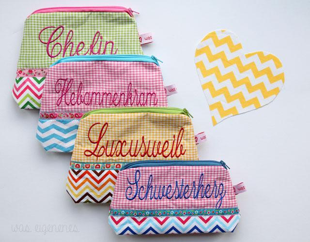 Schminktäschchen Chefin Hebammenkram Luxusweib Schwesterherz | waseigenes.com