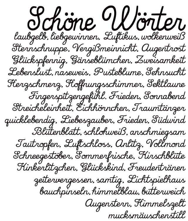 Schoene Woerter | schoene deutsche Worte | Wohklingende Woerter | waseigenes.com 1