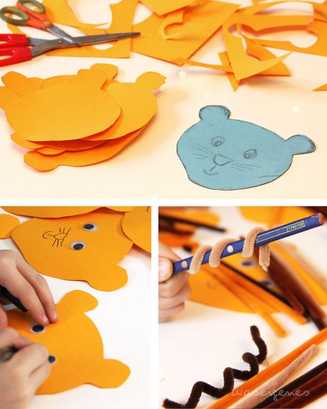 DIY Einladung Geburtstag | Kindergeburtstag Einladung | Löwe | Basteln mit Kindern | waseigenes.com Blog