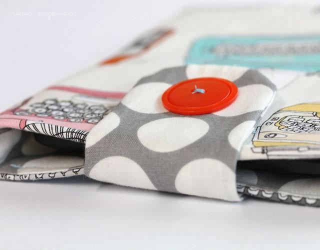 DIY Kindle Hülle selber nähen | Nähanleitung | Schritt für Schritt Fotoanleitung | waseigenes.com DIY Blog