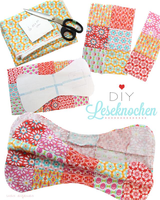 DIY Patchwork Leseknochen | Leseknochen nähen und selbermachen | waseigenes.com DIY Blog