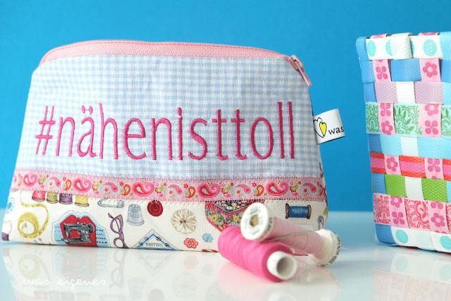 DIY Hashtag Schminktäschchen | #nähenisttoll | waseigenes.com DIY Blog